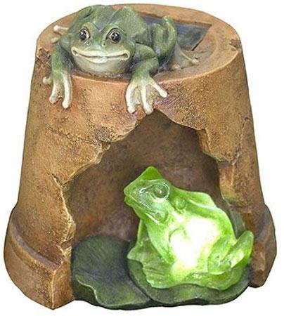 Садовое освещение Счастливый дачник Лягушата L-0213L-0213Характеристики: Материал: пластик. Размер светильника: 17 см х 16 см х 18 см. Размер коробки: 20 см х 19 см х 21 см.