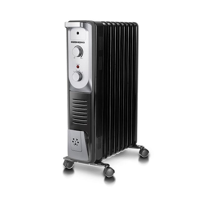 Redmond ROH-4515-9, Black масляный обогревательROH-4515-9BlМасляный обогреватель Redmond ROH-4515-9 - прибор с классическим дизайном, представленный в двух традиционных цветах – в строгом чёрном и в лёгком белом. Ничего лишнего, при этом всё продумано до мелочей. Данная модель имеет три высокоэффективных уровня обогрева. Примечательно, что данное устройство не сжигает кислород, поэтому оно безопасно для здоровья детей. Прибор оснащён удобной и понятной панелью управления, а также надёжными колёсиками и аккуратной ручкой для комфортного перемещения, что немаловажно для людей преклонного возраста. Наличие автоматического термостата гарантирует самостоятельную регулировку обогревателя во время работы (включение / выключение). Redmond ROH-4515-9 обладает и другими заметными достоинствами: защита от перегрева, отсек для намотки шнура и, главное, абсолютная бесшумность во время функционирования. 3 уровня обогрева Абсолютная бесшумность Не сжигает кислород Система поддержания температуры ...