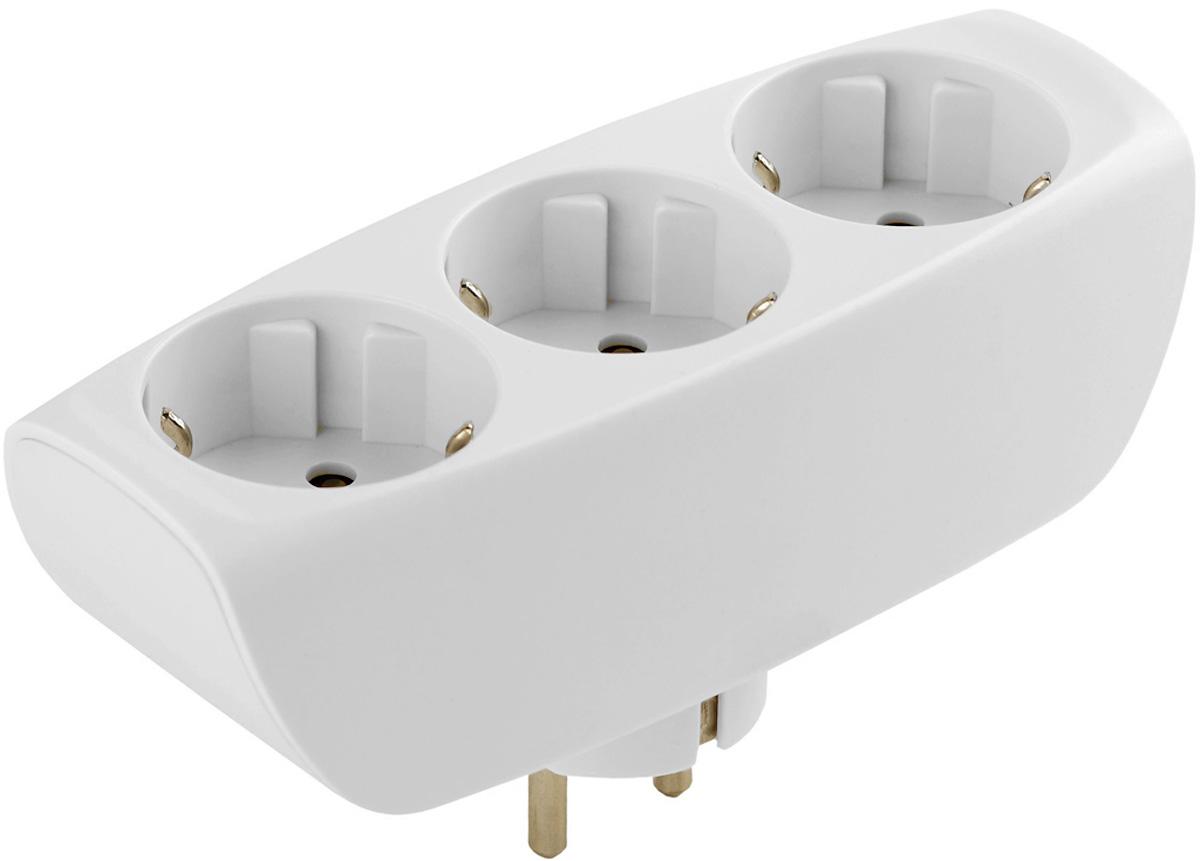 Тройник ЭРА SP-3e-W, с заземлением, цвет: белый, 3 гнездаSP-3e-WСетевой разветвитель (тройник) ЭРА предназначен для бытового применения в помещениях и обеспечивает возможность присоединения электрических приемников к однофазным сетям с номинальным напряжением 220В. Позволяет подключить несколько потребителей к одной электрической розетке. Материал корпуса - негорючий пластик с антипиренами, устойчив к механическим повреждениям, соответствует требованиям пожаробезопасности. Разветвитель имеет заземление и шторки. Наличие заземляющего контакта: да. Напряжение номинальное: 220В. Напряжение максимальное: 250В. Температура эксплуатации: от +5°С до +40°С. Относительная влажность: не более 85%. Срок службы: 5 лет. Материал корпуса: поликарбонат. Материал токоведущих частей: латунь CuZn15.