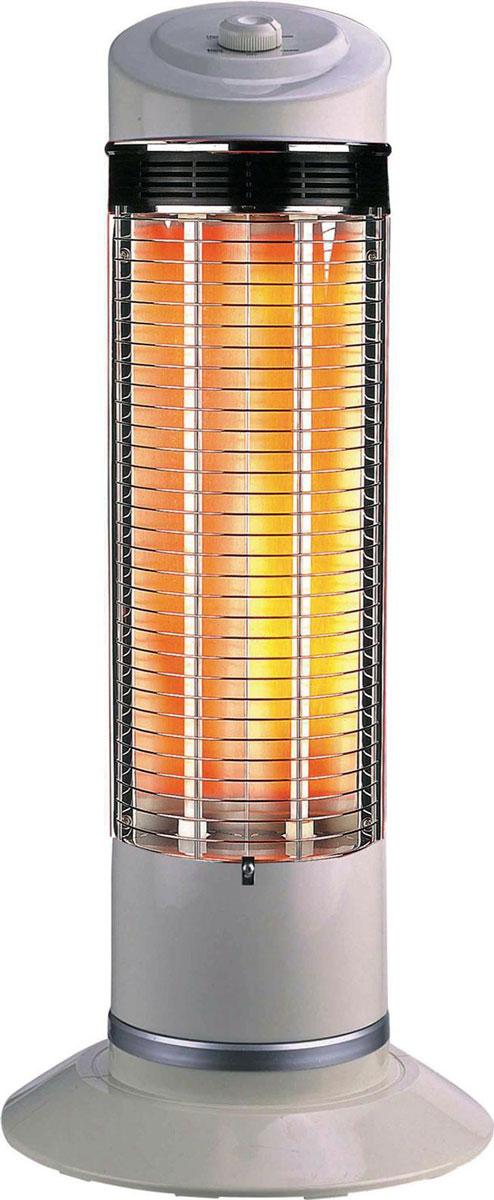 Zenet QH-1200, White карбоновый обогревательQH-1200Нагревательный элемент в карбоновом обогревателе Zenet QH-1200 изготовлен из тканной углеводородной (карбоновой) нити, имеющую форму спирали и запаян в вакуумную кварцевую трубку. За счёт того, что нагревательный элемент карбоновая (углеводородная) нить, у которой теплопроводность намного выше, чем у обогревателей, где нагревательный элемент, по сути, металлическая проволока (керамические, масляные), карбоновый обогреватель потребляет меньше электроэнергии в 2 - 2,5 раза. Причём, эффективность нагрева такая же, как у выше перечисленных обогревателей, при потреблении 1,8 - 2,4 КВт, против 1200 Вт у карбонового обогревателя. Что в нынешней ситуации, когда электроэнергия стоит дорого и нагрузка на сеть, соответственно, меньше в 2 - 2,5 раза, имеет не маловажное значение.Нагревательный элемент имеет долговечный срок службы, при условии соблюдения технических условий эксплуатации (220 Вольт 50 Гц) , в отличии от вышеупомянутых обогревателей, у которых нагревательный элемент имеет свойство провисать и окислятся с течением времени. Галогенные обогреватели (трубки заполненные газом), так же имеют ограниченный (полугодовой) ресурс работы. Конструктивная особенность обогревателя позволяет вращаться на 180 градусов, что даёт возможность обогревать, при потреблении в 1200 Вт, площадь до 30 кв. м.За счёт того, что нагревательный элемент Zenet QH-1200 запаян в вакуумной кварцевой трубке (защищён от проникновения влаги) и расположен вертикально, исключено попадания на него пыли и, соответственно, ее сгорания. Карбоновый обогреватель относится инфракрасным обогревателям к классу длинноволновых (прогревают не воздух, а окружающие его предметы и тело человека), поэтому не сушат воздух и не сжигают кислород.Нагревательный элемент обычных обогревателей обладает нагревательной эффективностью на расстоянии до одного метра, а карбоновый до 3 - 4 метров. Карбоновый обогреватель Zenet QH-1200 способен прогревать тело человека на несколько с