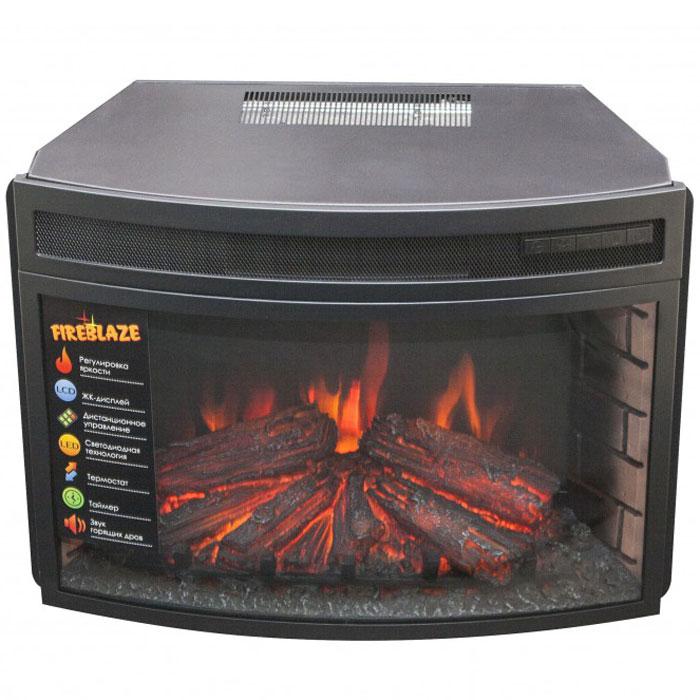 RealFlame Firespace 25 электроочаг декоративныйFirespace 25Электрический очаг RealFlame Firespace 25 предназначен для встраивания в обрамления. Он оснащен потрясающим эффектом пламени и муляжом дров, расположенных за полукруглым (панорамным) фронтальным стеклом. С помощью регулятора можно задать желаемую яркость пламени (4 уровня регулировки), а инфракрасный обогреватель с поддувом спрятан в верхней части очага и обеспечивает обогрев в холодную погоду. Электрический камин с порталом станет оригинальной деталью в любом интерьере, не нуждаясь при этом в никаких специальных работах по установке.