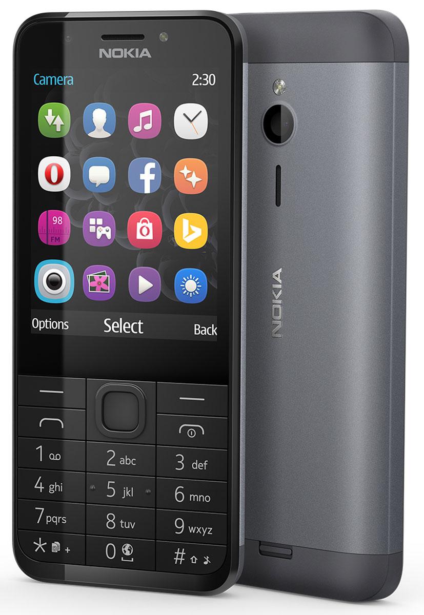 Nokia 230 Dual Sim, Black SilverA00026971Nokia 230 Dual Sim — это изящный телефон с функцией съемки автопортретов, сочетающий в себе фронтальную камеру 2 Мпикс со светодиодной вспышкой и матовую алюминиевую заднюю панель, которая элегантно облегает телефон. Благодаря фронтальной камере 2 Мпикс и специальной клавише для включения режима селфи, Nokia 230 Dual Sim готов к съемке веселых моментов вашей жизни. Рядом с фронтальной камерой расположена светодиодная вспышка, позволяющая делать автопортреты вечером и ночью, а с помощью популярных приложений для соцсетей, например Facebook и Twitter, вы сможете легко поделиться своими фото с другими. Прочный корпус из поликарбоната, алюминиевая задняя панель с матовым покрытием и тонкий профиль — Nokia 230 Dual Sim идеально сочетает утонченный дизайн и непревзойденное качество сборки. Экран с диагональю 2,8 дюйма идеально подходит для съемки и демонстрации фотографий, проведения времени за играми и воспроизведения потокового видео. С помощью браузера...