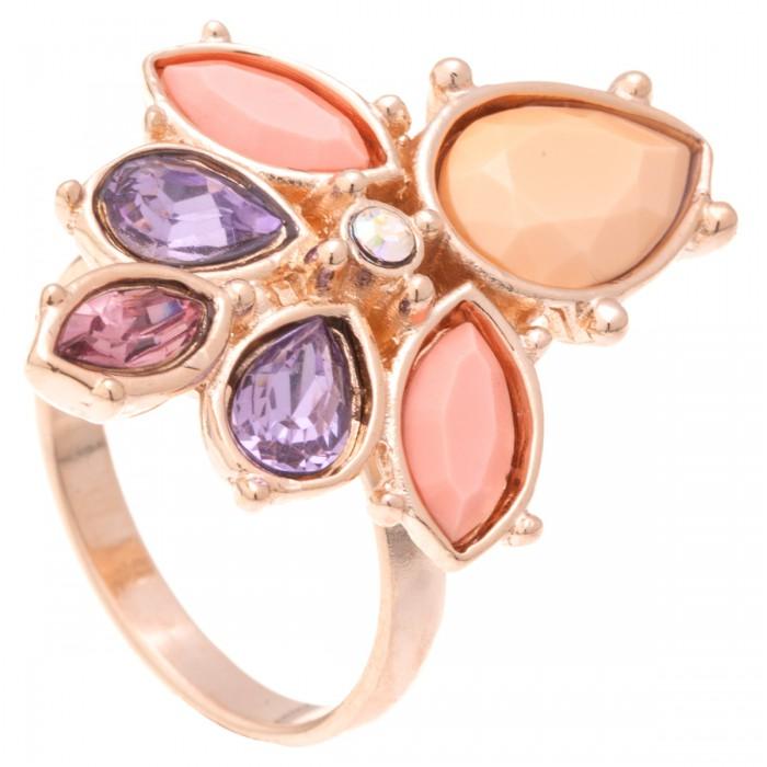 Кольцо Jenavi Саламин, цвет: золотистый, нежно-розовый, сиреневый. k323p0k7. Размер 20Коктейльное кольцоСтильное кольцо Jenavi Саламин изготовлено из ювелирного сплава сантиаллергическим гальваническим позолоченным покрытием. Декоративныйэлемент инкрустирован кристаллами Swarovski и пластиком, что придает изделиюпраздничный вид. Универсальное цветовое решение и оригинальный дизайн этого кольца непозволят вам остаться незамеченными.
