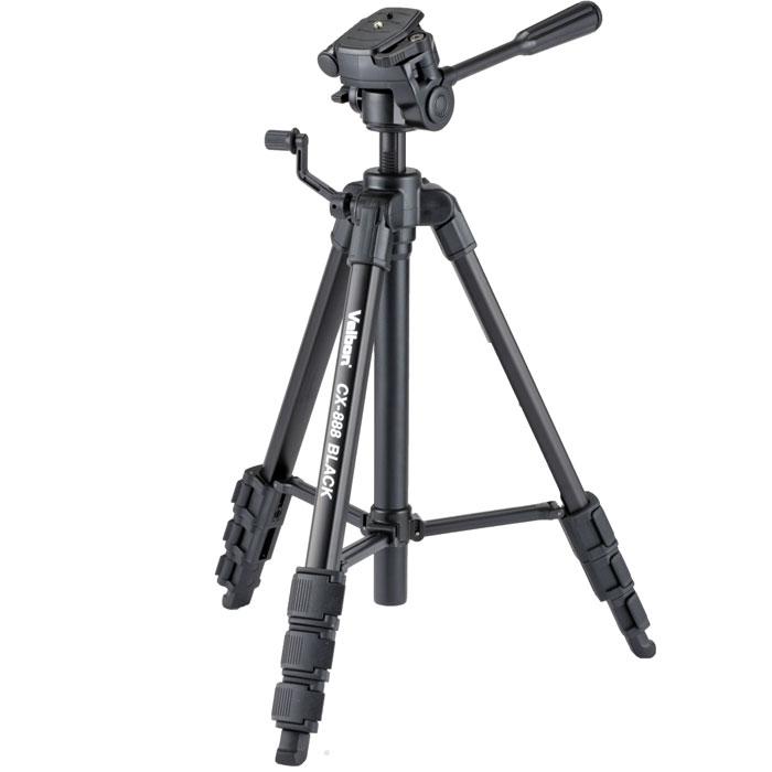 Velbon CX-888, Black штативCX-888Velbon CX-888 - любительский штатив для фотокамер. Снабжён головкой PH-249Q, поставляемой в комплекте со штативом. Штатив поможет вам почувствовать себя настоящим фотографом.