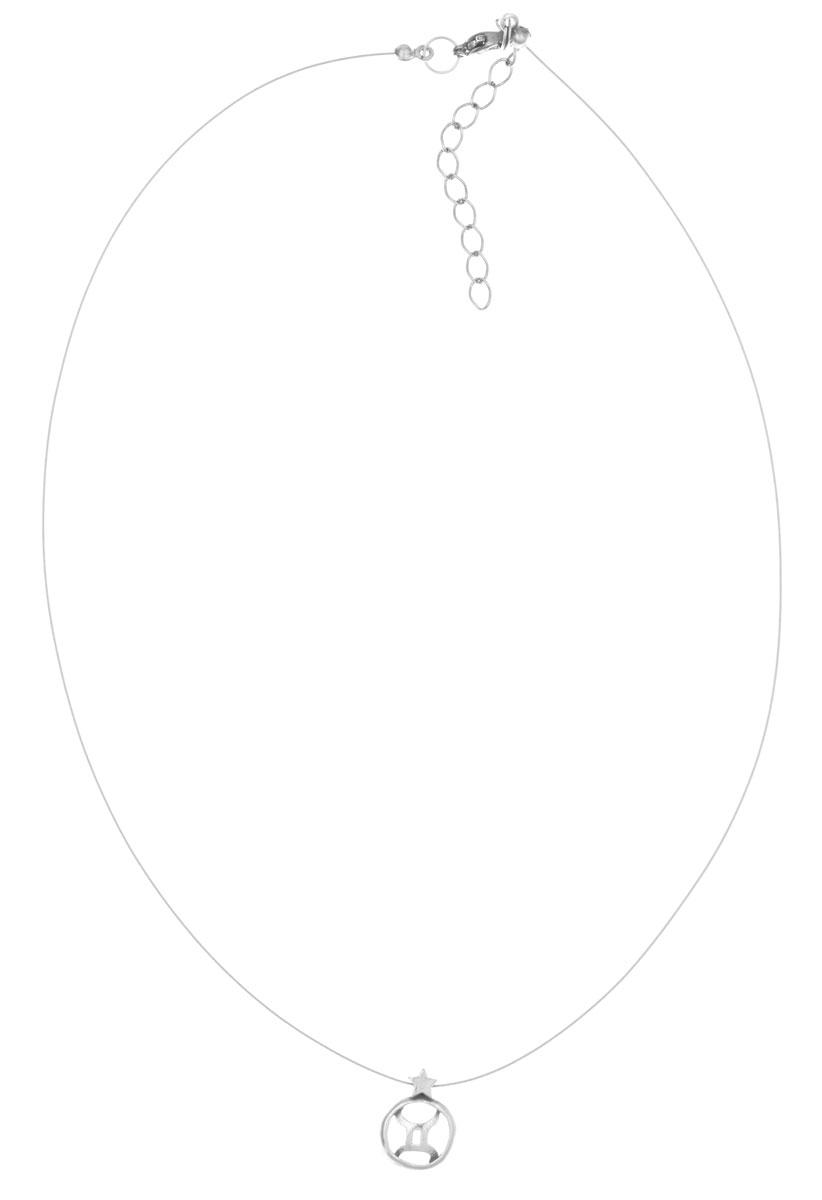 Кулон Jenavi Джеминей, цвет: серебряный. k3613990k3613990Кулон Jenavi Джеминей выполнен в виде символа знака зодиака Близнецы из гипоаллергенного ювелирного сплава с покрытием из черненого серебра. Кулон дополнен металлизированной нитью, которая фиксируется на замок-карабин. Длина изделия регулируется за счет дополнительных звеньев. Кулон Jenavi Джеминей поможет дополнить любой образ и привнести в него завершающий штрих.