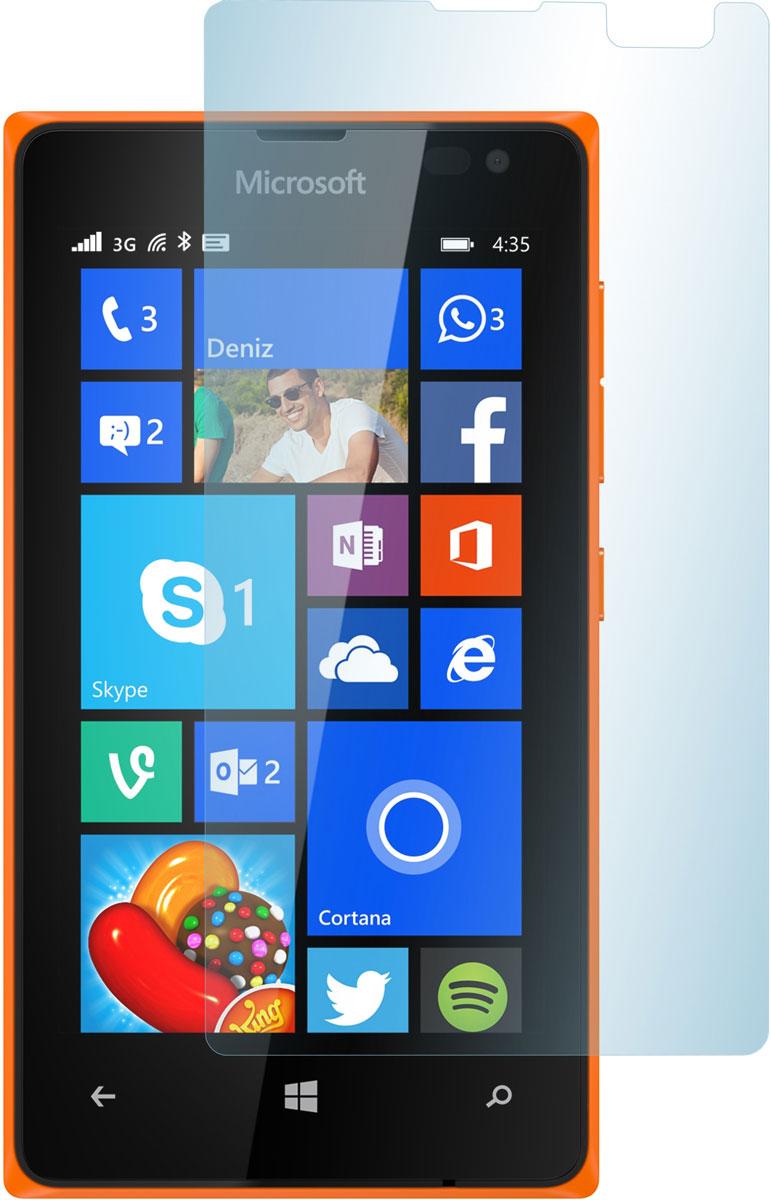 Skinbox защитное стекло для Microsoft Lumia 435/532, глянцевоеSP-107Защитное стекло Skinbox для Microsoft Lumia 435/532 предназначено для защиты поверхности экрана от царапин, потертостей, отпечатков пальцев и прочих следов механического воздействия. Оно имеет окаймляющую загнутую мембрану последнего поколения, а также олеофобное покрытие. Изделие изготовлено из закаленного стекла высшей категории, с высокой чувствительностью и сцеплением с экраном.