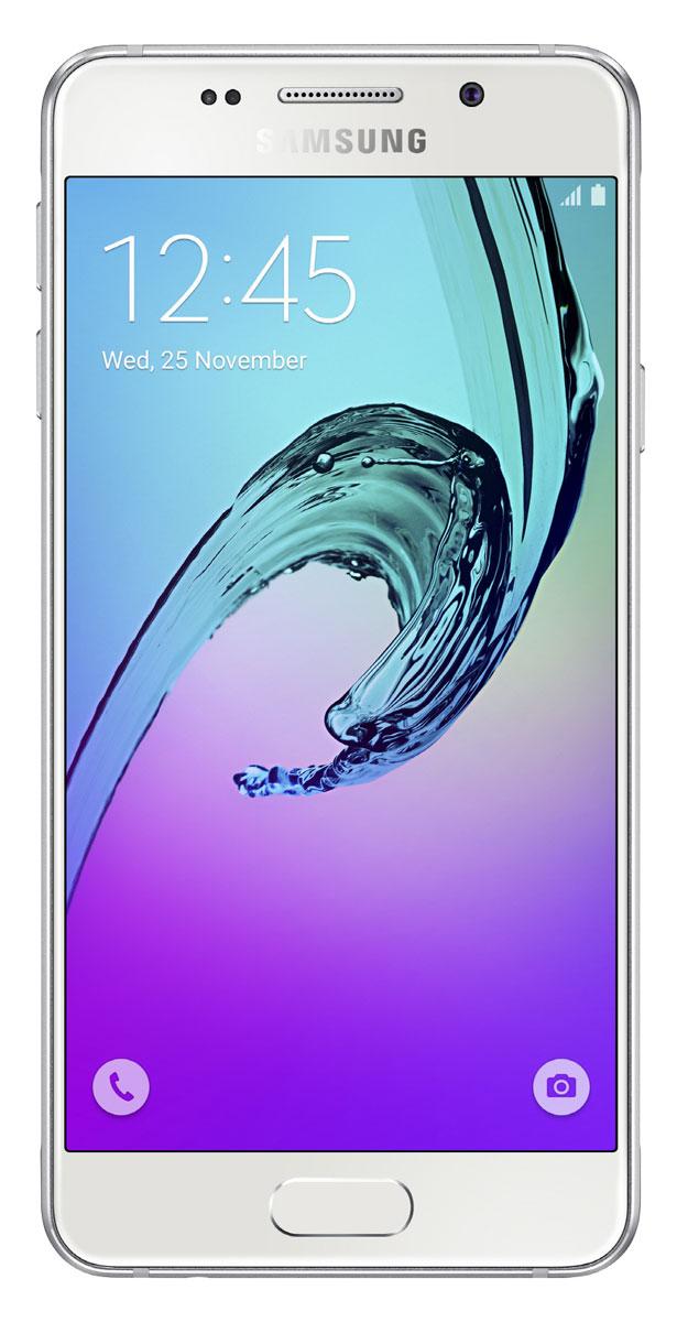 Samsung SM-A310F Galaxy A3, WhiteSM-A310FZWDSERSamsung SM-A310F Galaxy A3 - стильное мобильное устройство из стекла и металла сделает вашу жизнь комфортнее благодаря эргономичному дизайну, мощному аккумулятору, поддержке быстрой зарядки, усовершенствованной камере, улучшенному процессору и поддержке LTE.Премиальный дизайн, надежность и великолепие стекла Gorilla Glass. Оцените комфортный просмотр изображений на экране с более тонкой рамкой.Четырехъядерный процессор Exynos 7578 с частотой 1,5 ГГц обеспечивает быстрый доступ к любимым приложениям и великолепную поддержку в режиме многозадачности.Фронтальная и основная камеры с диафрагмой F1.9 - это всегда яркие и четкие снимки даже в условиях низкой освещенности. Благодаря быстрому запуску камеры двойным нажатием кнопки Домой вы не упустите самые важные моменты вашей жизни. Для создания отличных селфи предусмотрено сразу несколько удобных функций - например, Palm Selfie, с помощью которой можно управлять камерой жестом, функция Wide Selfie, позволяющая создавать панорамные селфи, а также набор эффектов для улучшения изображения.Аккумулятор с увеличенной ёмкостью продлевает работу смартфона. Смотрите видео с высоким HD разрешением, играйте в игры, слушайте музыку и работайте с любыми приложениями дольше, чем обычно.Телефон сертифицирован Ростест и имеет русифицированный интерфейс меню, а также Руководство пользователя.