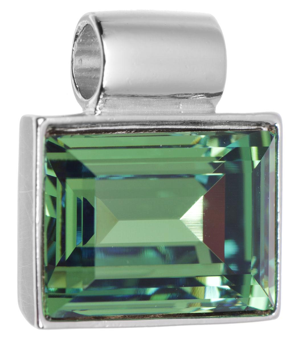 Подвеска Jenavi Тянада, цвет: серебряный, зеленый. k296f334k296f334Подвеска Jenavi Тянада выполнена из гипоаллергенного ювелирного сплава, оформлена покрытием из серебра и родия. Подвеска прямоугольной формы дополнена граненым кристаллом Swarovski. Изделие имеет отверстие, которое позволит использовать шнур или цепочку любого диаметра. Подвеска Jenavi Тянада поможет дополнить любой образ и привнести в него завершающий яркий штрих.