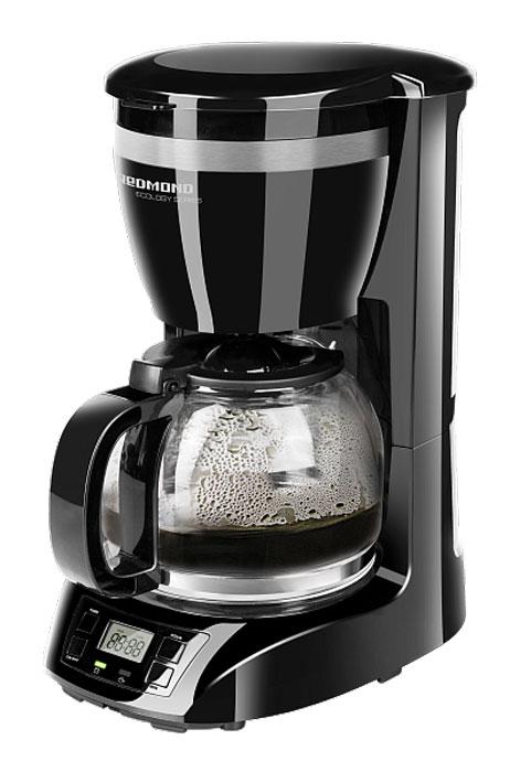 Redmond RCM-1510 кофеваркаRCM-1510Кофеварка Redmond RCM-1510 – новый чудо-прибор, позволяющий легко приготовить кофе, чай и травяной отвар. Взгляните на этот элегантный строгий дизайн – он так и манит выпить еще одну чашечку бесподобного кофе. Кофеварка Redmond RCM-1510 является совершенным высокотехнологичным устройством – функции Антикапля и Автоподогрев, программируемый таймер, защита от перегрева, автоотключение и, что крайне важно – съемный многоразовый фильтр. Redmond RCM-1510 имеет вместительный кувшин и резервуар для воды (1,5 л). Кувшин выполнен из надежного термостойкого стекла. Четкий ЖК-дисплей и возможность использования бумажных фильтров идеально дополняют функциональность аппарата. Вы будете очарованы каждой каплей потрясающего кофе! Объем кувшина: 1,5 л Возможность использования бумажных фильтров Автоподогрев: 40 мин Отсрочка приготовления до 24 часов Длина электрошнура: 0,9 м