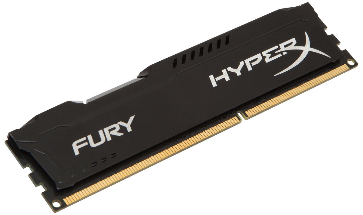 Kingston HyperX Fury DDR3 4GB 1866 МГц, Black модуль оперативной памяти (HX318C10FB/4)HX318C10FB/4Модуль памяти Kingston HyperX FURY DDR3 автоматически разгоняется до максимальной заявленной частоты, а простота иавтоматическая конфигурируемость позволяют быстрее включаться в игру и мгновенно выходить на высочайшие скорости, необходимые для победы. Благодаря низкому напряжению (от 1,35 В) потребляется меньше энергии и выделяется меньше тепла, при этом поддерживаются новые чипсеты Intel 100 Series. Ассиметричный и агрессивный дизайн модуля, а также высококачественный алюминий и граненая отделка позволят вам выделиться среди стандартных квадратных конструкций.