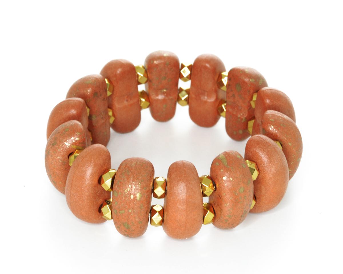 Браслет Bohemia Style, цвет: кирпичный, золотой. 56152E 8 56152E 8 браслет
