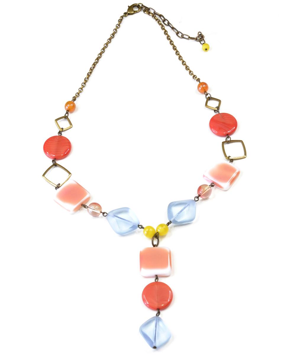 Бусы Bohemia Style, цвет: красный, коралловый, голубой. BW1218 7815 95 BW1218 7815 95 бусы