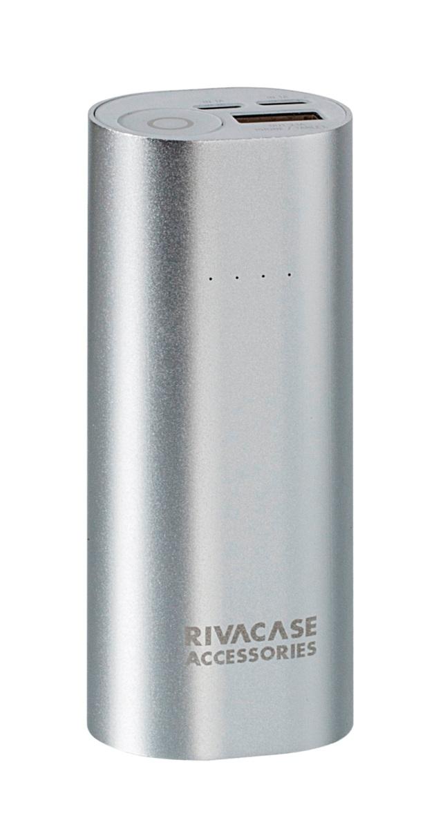 Rivapower VA1005 внешний аккумуляторVA 1005Rivapower VA1005 - литий-ионный внешний аккумулятор емкостью 5000 мАч. Два входа устройства предназначены для заряда аккумуляторной батареи через кабель с Micro - USB разъемом или через оригинальный кабель Apple Lightning. Аккумулятор совместим с наиболее популярными мобильными устройствами, в том числе и с iPhone и iPad. Подключите мобильное устройство к аккумулятору и зарядка начнется автоматически, а по ее завершении устройство отключится. Четыре светодиодных индикатора на лицевой стороне покажут уровень заряда аккумулятора. Защита от перегрева, перезаряда, переразряда, перегрузки по току и короткого замыкания защитит устройство от повреждений и выхода из строя. Надежный алюминиевый корпус защищает Rivapower VA1005 от случайного повреждения, поглощает и отводит тепло, производимое аккумулятором. Полностью заряженный аккумулятор заряжает смартфон до 2 раз или планшет 1 раз (в зависимости от емкости батареи мобильного устройства). Аккумуляторная батарея...