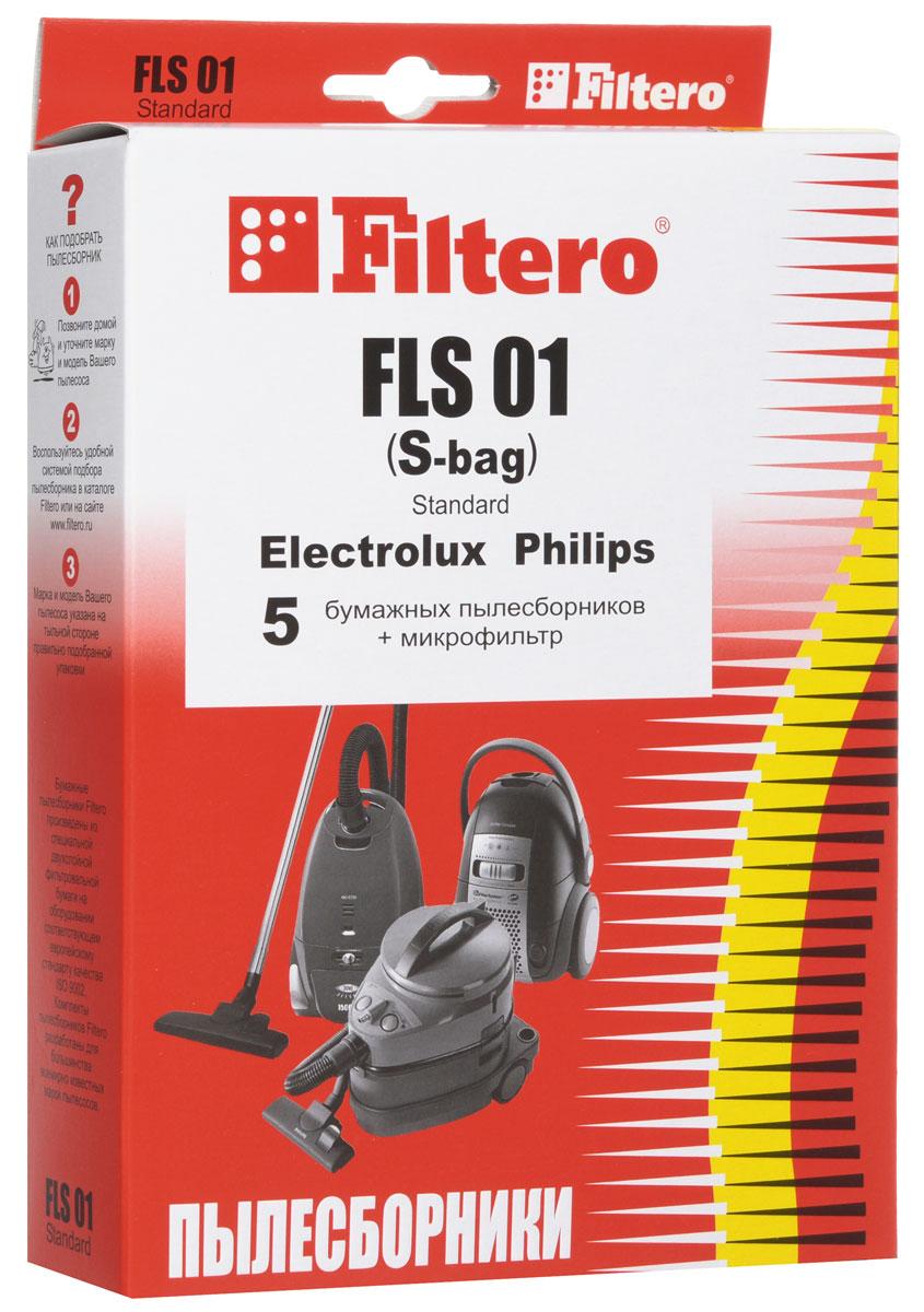 Filtero FLS 01 (S-bag) Standard пылесборник (5 шт)FLS 01 (S-bag) StandartОдноразовые бумажные мешки для пылесосов Filtero FLS 01 (S-bag) Standard сделаны из высококачественной многослойной фильтровальной бумаги, которая пропускает воздух, но задерживает даже самые маленькие частицы пыли. Бумажные мешки для пылесосов защищают двигатель от основного потока пыли, а, следовательно, и от перегрева вследствие засорения и преждевременного износа. Они предназначены для одноразового использования и прекрасно подходят для уборки в больших помещениях. Пылесборники подходят для следующих моделей пылесосов: ELECTROLUX Z 1900 - Z 2095 Clario например: Z 2042 Clario Z 3310 - Z 3395 Ultra Silencer например: Z 3353 Ultra Silencer Z 4500 - Z 4595 Bolido Z 5000 - Z 5295 Excellio Z 5000 - Z 5695 Smartvac Z 5500 - Z 5695 Oxygen Z 5900 - Z 5995 Oxygen Z 6200, Z 6201 Mondo Plus Z 7330 - Z 7350 Oxygen Z 7530 - Z 7595 Clario ZAM 6100 - ZAM 6109 Air Max ZE...