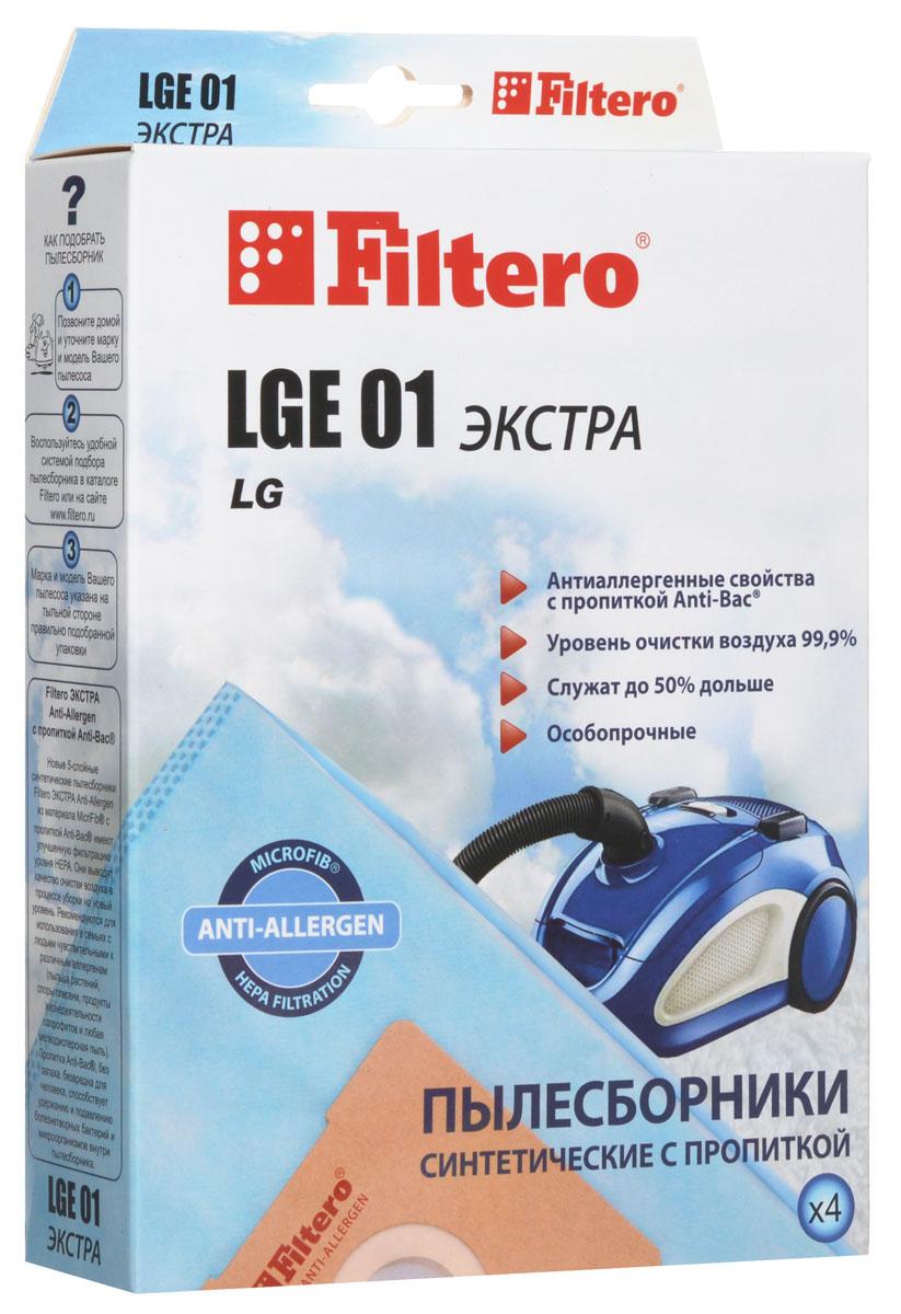 Filtero LGE 01 Экстра пылесборник (4 шт)LGE 01 (4) ЭКСТРАПылесборники Filtero LGE 01 Экстра произведены из синтетического микроволокна MicroFib с антибактериальной пропиткой Anti-Bac. Очень прочные, они не боятся острых предметов и влаги, собирают больше пыли (до 50%) и обеспечивают уровень очистки воздуха 99,9%, а также задерживают бактерии и препятствуют их распространению. При этом мощность всасывания пылесоса сохраняется в течение всего периода службы пылесборника. Пылесборники подходят для следующих моделей пылесосов: LG Turbo 27..., 29..., 31..., 32..., 33..., 34..., 44... FVD 30… V 27... например: V 2710 TE V 33... Turbo V 35... Passion V 39... Extron V-C 31... V-C 32... Turbo V-C 33... Storm V-C 34... V-C 35... Passion V-C 38... Turbo S V-C 39... Extron V-C 3A4... Turbo Beta например: V-C 3A42 SD Turbo Beta V-C 3A5… Turbo Beta V-C 3A6… Turbo Beta V-C 3B5… Turbo Delta V-C 3C3… Turbo...