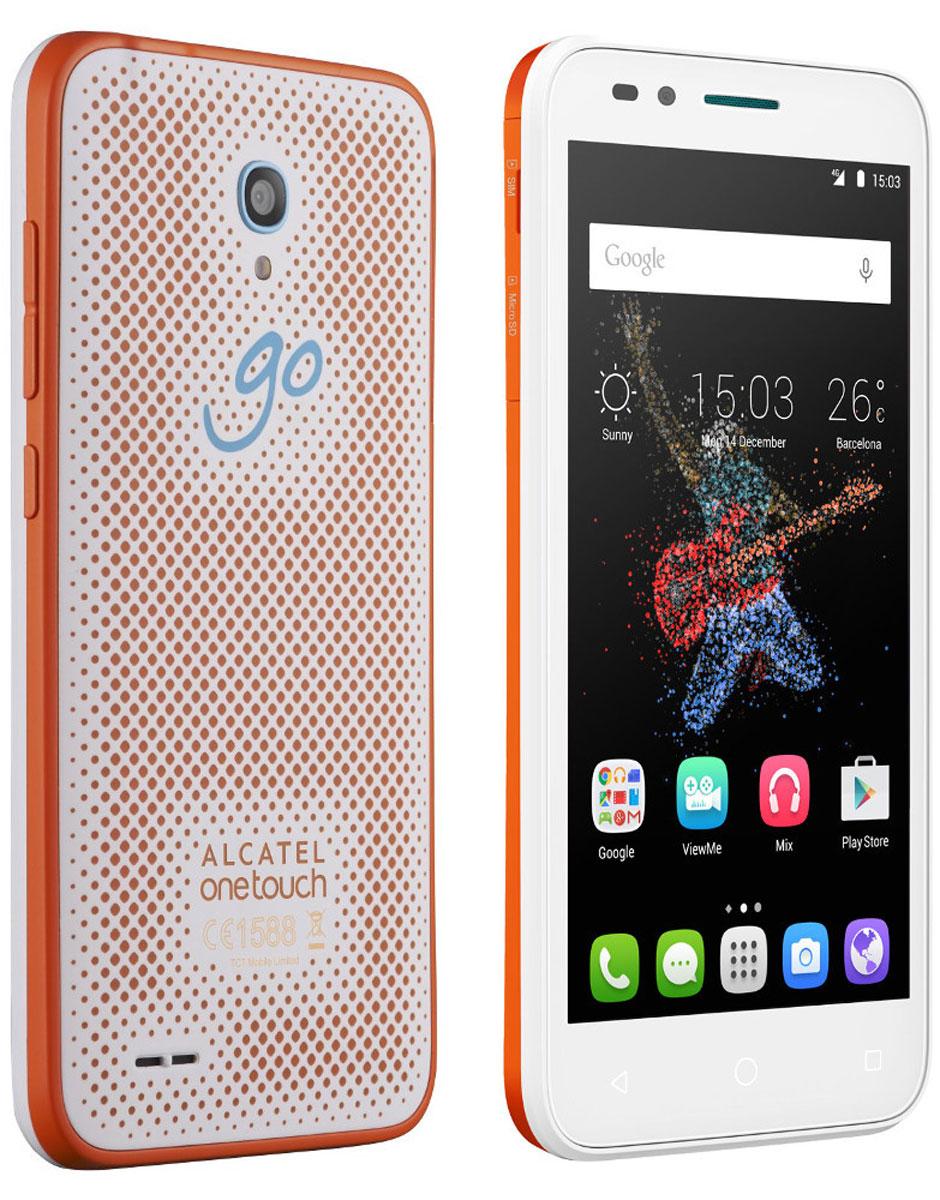 Alcatel OT-7048X Go Play, White Orange