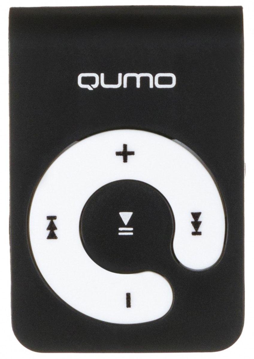 Qumo Hit, Black MP3-плеер19166Миниатюрный и невесомый МР3-плеер Qumo Hit. На корпусе плеера предусмотрена клипса, с помощью которой его можно закрепить на одежде, лямке рюкзака или элементах спортивной экипировки. В качестве источника файлов выступает microSD карта, а для подключения зарядки и синхронизации с компьютером предусмотрен вход microUSB. Также плеер можно использовать как кардридер, позволяя сохранить на носитель не только музыку, но и важные документы.