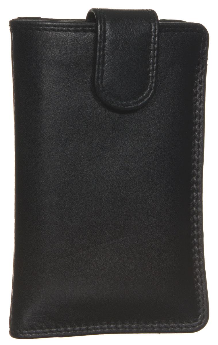 Чехол для смартфона мужской Bodenschatz, цвет: черный. 8-359/01 барсетка мужская bodenschatz цвет черный 8 427 01