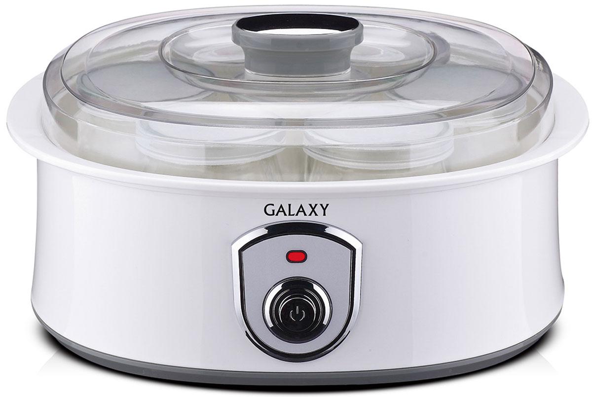 Galaxy GL 2690 йогуртница4650067301532Йогуртница Galaxy GL 2690 приготовит для вас полезное лакомство, содержащее живую йогуртовую культуру без консервантов,ароматизаторов и красителей. Приготовление домашнего йогурта позволяет дать волю фантазии в выборе наполнителей и получить натуральный и полезный продукт для вашей семьи! Объем баночки: 200 мл. Материал баночек: стекло.