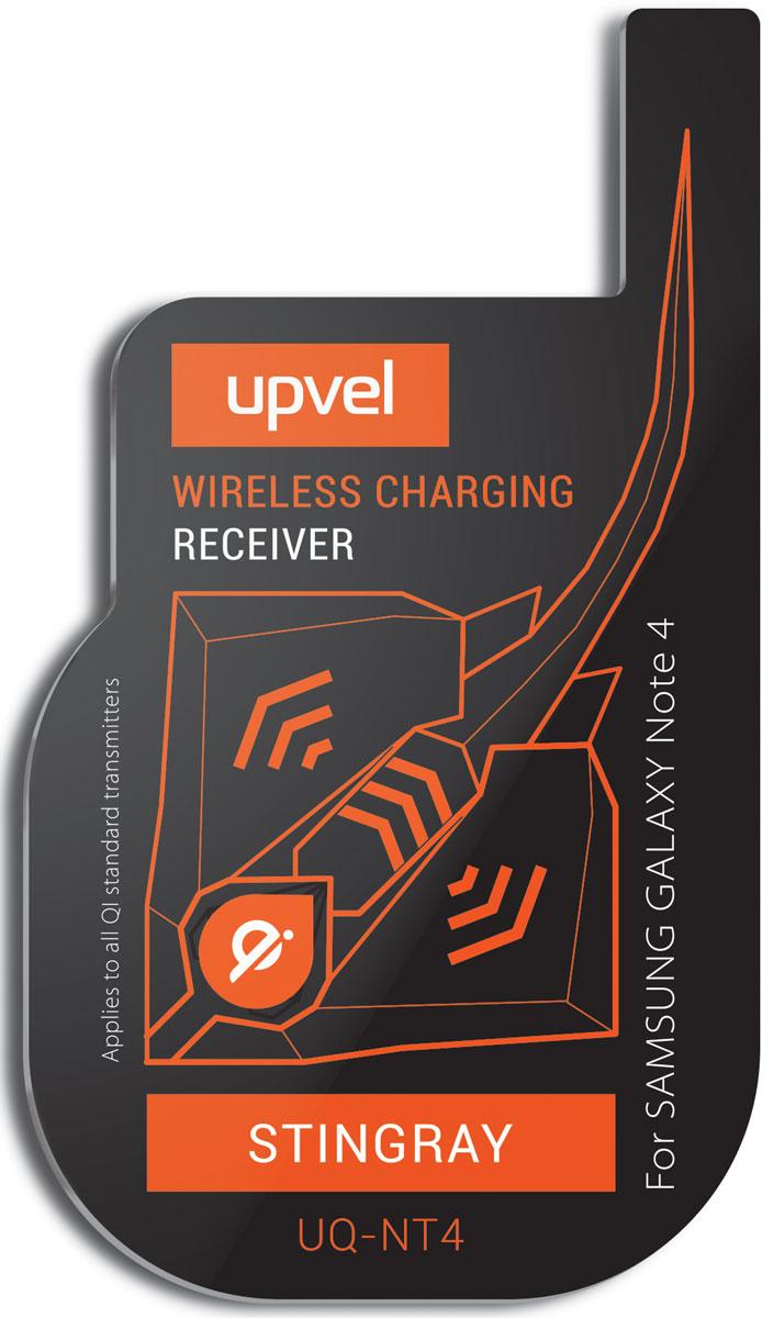 UPVEL UQ-NT4 Stingray для Samsung Galaxy Note 4, Black модуль-приемник беспроводной зарядки стандарта QiUQ-NT4 STINGRAYUPVEL UQ-NT4 позволяет заряжать Samsung Galaxy Note 4 при помощи беспроводных зарядных устройств стандарта Qi. Плоский модуль беспроводной зарядки фиксируется на аккумуляторной батарее смартфона, под задней крышкой. Устройство не влияет на нормальную работу смартфона и не изменяет его внешний вид. Рабочее расстояние: до 5-7 мм Эффективность: 500 мАч Стандарты: WPC