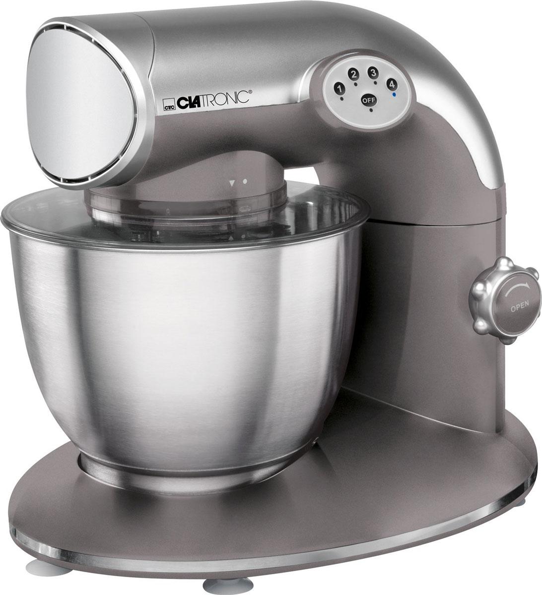 Clatronic KM 3632 Titan, кухонный комбайнKM 3632 titanКухонный комбайн Clatronic KM 3632 станет прекрасным помощником для любой хозяйки С ним вы сможете готовить невероятно вкусные и аппетитные блюда, при этом сократив время их приготовление. Основным назначением прибора является изготовление различных видов теста и кремов. Комбайн качественно и быстро перемешивает различные ингредиенты, что дает возможность избежать комочков. Clatronic KM 3632 снабжен чашей из нержавеющей стали и механической системой управления. 4 скорости замешивания обеспечат наилучший результат.