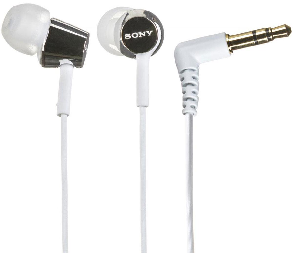 Sony MDR-EX150, White наушникиMDR-EX150 белыйНаушники-вкладыши Sony MDR-EX150 предлагаются в десяти ярких цветовых решениях, что позволит вам подобрать пару наушников под свой индивидуальный стиль. Динамики с неодимовыми магнитами и с диаметром диффузора 9 мм обеспечивают яркое энергичное звучание музыки, а диапазон воспроизводимых частот от 5 Гц до 24 кГц идеально подойдет для популярных стилей музыки.