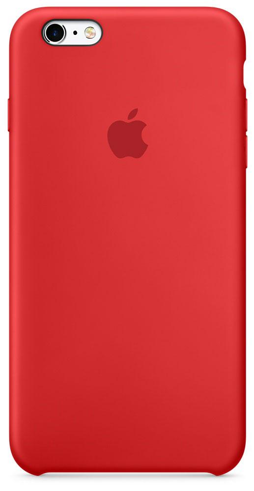 Apple Silicone Case чехол для iPhone 6s Plus, RedMKXM2ZM/AApple Silicone Case плотно прилегает к кнопкам управления громкостью и режима сна. Он точно повторяет контуры iPhone 6s Plus и iPhone 6 Plus, поэтому телефон не выглядит громоздким. Мягкая внутренняя поверхность чехла, выполненная из микроволокна, защитит корпус вашего iPhone. А внешняя поверхность с шелковистой силиконовой отделкой очень приятна на ощупь.