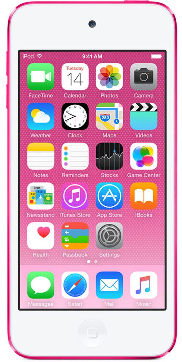 Apple iPod Touch 6G 32GB, Pink mp-3 плеерMKHQ2RU/AApple iPod Touch 6G - это отличный способ уместить всю медиатеку в кармане. iTunes Store, самый большой в мире каталог музыки, наполнит ваш iPod touch любимыми песнями. iCloud обеспечит автоматический доступ ко всем вашим покупкам со всех ваших Apple-устройств - совершенно бесплатно. А сервис Apple Music, доступный прямо в приложении Музыка, произведет сильное впечатление. В Apple iPod Touch 6G встроен 64-битный процессор A8 уровня настольных компьютеров, разработанный Apple. Благодаря ему производительность увеличилась до шести раз по сравнению с моделью предыдущего поколения, а скорость графики выросла до 10 раз - теперь ваши любимые игры работают быстрее и выглядят ещё реалистичнее, чем прежде. Время работы от аккумулятора не изменилось - до 40 часов воспроизведения музыки и до 8 часов воспроизведения видео.Сопроцессор движения M8 постоянно измеряет данные ваших движений, используя передовые датчики, в том числе гироскоп и акселерометр. Выполняя эти задачи, M8 разгружает процессор и повышает эффективность работы устройства. Кроме того, он предоставляет точные фитнес-данные, например количество шагов или дистанцию, для приложения Здоровье. Metal - новая технология, позволяющая разработчикам создавать игры консольного уровня с высокой степенью погружения - была создана для достижения оптимальной графической производительности процессора A8 и системы iOS 8. Metal оптимизирует работу графического и центрального процессоров и позволяет добиться детальной графики и сложных визуальных эффектов. Любой игровой мир будет выглядеть как настоящий. В Apple iPod Touch 6G оснащен 4-дюймовым дисплеем Retina с разрешением 1136 х 640 точек, так что все ваши развлечения будут смотреться неотразимо. Резкие повороты в гоночных симуляторах, плейлист для вечеринки, фотографии друзей - все выглядит четко, ярко и реалистично. А еще этот дисплей идеально подходит для широкоэкранных HD - фильмов и телепередач.Теперь ваши фотографии и видео 