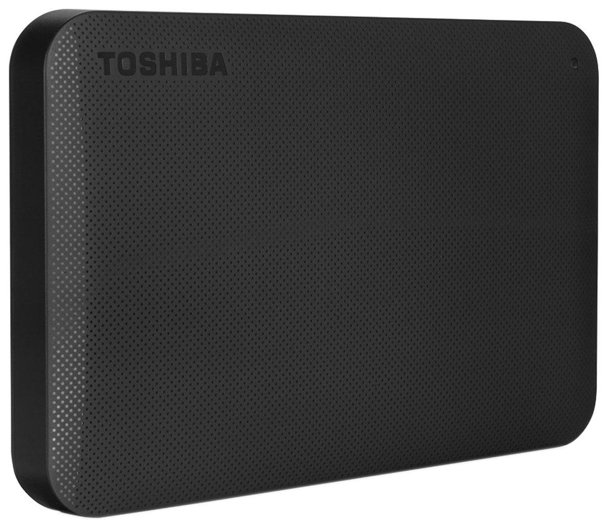 Toshiba Canvio Ready 2TB, Black внешний жесткий диск (HDTP220EK3CA)HDTP220EK3CAВнешний жесткий диск Toshiba Canvio Ready отличается высокими показателями по быстроте деятельности. Практически в течение считанных мгновений у вас появятся доступы к интересующим информационным данным. Такой результат достигается за счет эффективности действия интерфейса USB 3.0. Теперь вы сможете вести запись данных на скорости, равной 5 Гбит/с, что позволит копировать большие файлы в кратчайшие сроки. Обратная совместимость с интерфейсом USB 2.0 гарантирует стабильную работу с оборудованием предыдущего поколения: при помощи Canvio Ready удобно переносить информацию со старого компьютера на новый. Пропускная способность интерфейса: 5 Гбит/сек Поддержка ОС: Windows 10, Windows 8, Windows 7