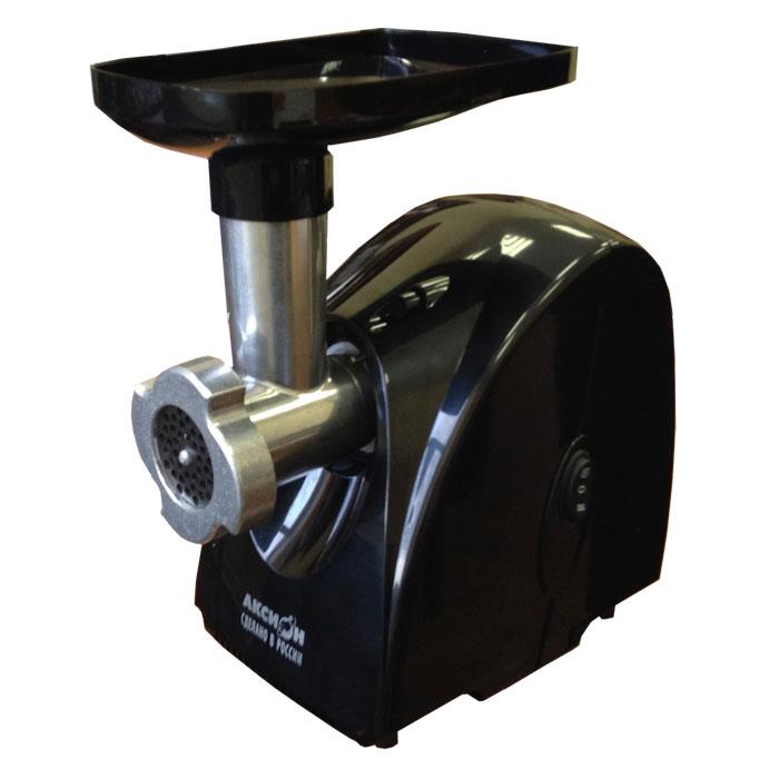 Аксион М 31.01, Black мясорубкаАксион М 31.01ЧЭлектрическая мясорубка Аксион М 31.01 имеет функцию реверс, позволяющую кратковременно поворачивать шнек в обратном направлении. В качестве емкости, в которую будет поступать фарш, можно использовать посуду, максимальная высота которой не превышает 11 см. Эргономичная конструкция агрегата предполагает наличие специального отсека для хранения решеток.