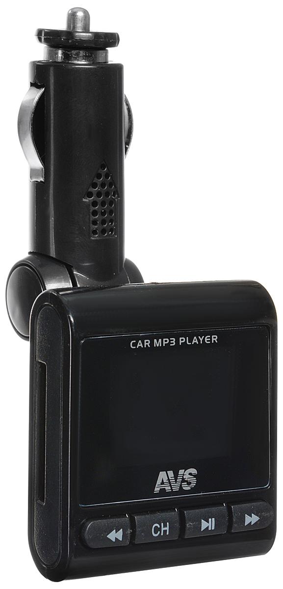 AVS F-593, Black MP3-плеер + FM-трансмиттер с дисплеем и пультом