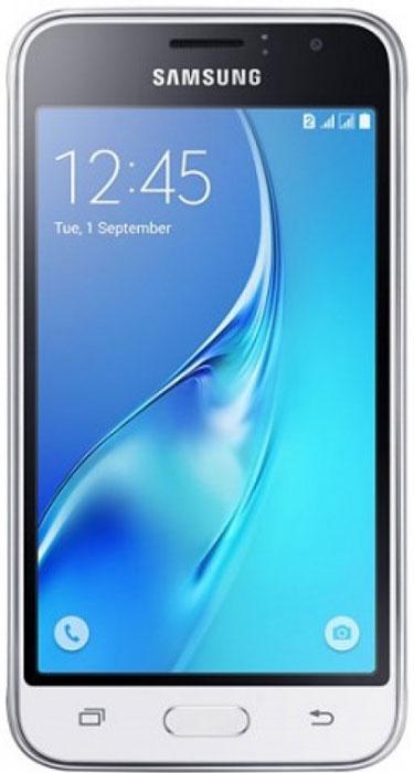 Samsung SM-J105H Galaxy J1 mini, WhiteSM-J105HZWDSERSamsung SM-J105H Galaxy J1 mini - это гармония стиля и функциональности. Закругленные края подчеркивают простой, но элегантный и современный дизайн, а толщина корпуса в 10,7 мм обеспечивает удобство в использовании!Яркие впечатления от просмотраЯркие впечатления от просмотра на 4 экране. Он отличается широкой палитрой воспроизводимых цветов. Благодаря обновленному дизайну экран выглядит шире, а воспроизводимые изображения очень реалистичны.Яркие и четкие фотографии:5-мегапиксельная основная камера с диафрагмой f/2.2 - гарантия отличных снимков.Емкий аккумулятор:Аккумулятор с емкостью 1500 мАч позволит оставаться на связи дольше обычного. Разрядился аккумулятор? Нет проблем! Режим максимального энергосбережения позволит продлить работу вашего смартфона.Повышенная производительность:4-ядерный 1,2 ГГц процессор обеспечит мгновенную реакцию смартфона на любые ваши действия. Вы по достоинству оцените высокую скорость работы смартфона в приложениях.Удобное приложение Smart Manager:Приложение Smart Manager дает возможность управлять основными функциями и режимами вашего смартфона. Проверить состояние уровня заряда батареи, доступный объем памяти, использование оперативной памяти и степень защищенности вашего смартфона.Телефон сертифицирован Ростест и имеет русифицированный интерфейс меню, а также Руководство пользователя.