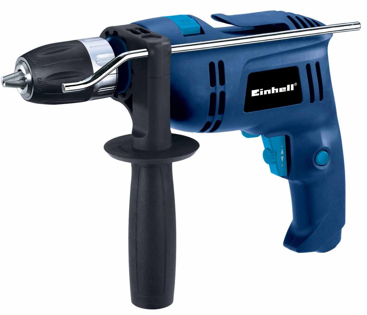 Дрель ударная EINHELL BT-ID 650 E4258658Мощность: 650 Вт. Kоличество оборотов: 0-2100 об/мин. Регулировка оборотов, быстрозажимной патрон с фиксатором, 13 мм, вес 2 кг.