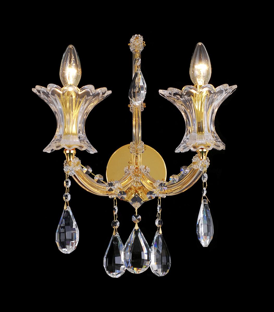 Бра Natali Kovaltseva Venezia 10650/2W GOLD, CLEARVenezia 10650/2W GOLD, CLEARD35 x H28 cm
