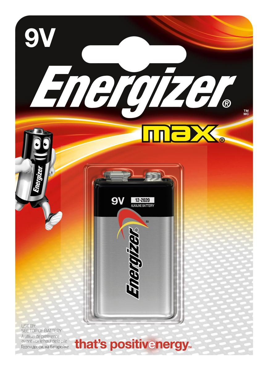 Батарейка Energizer Max, тип 9V/6LR61E300115900Батарейка Energizer Max - безотказный источник энергии для устройств повседневного пользования. Это первая в мире щелочная батарейка без ртути. Работает до 45% дольше, держит заряд до 10 лет. Не протечет в вашем устройстве после окончательной разрядки в течение двух лет.