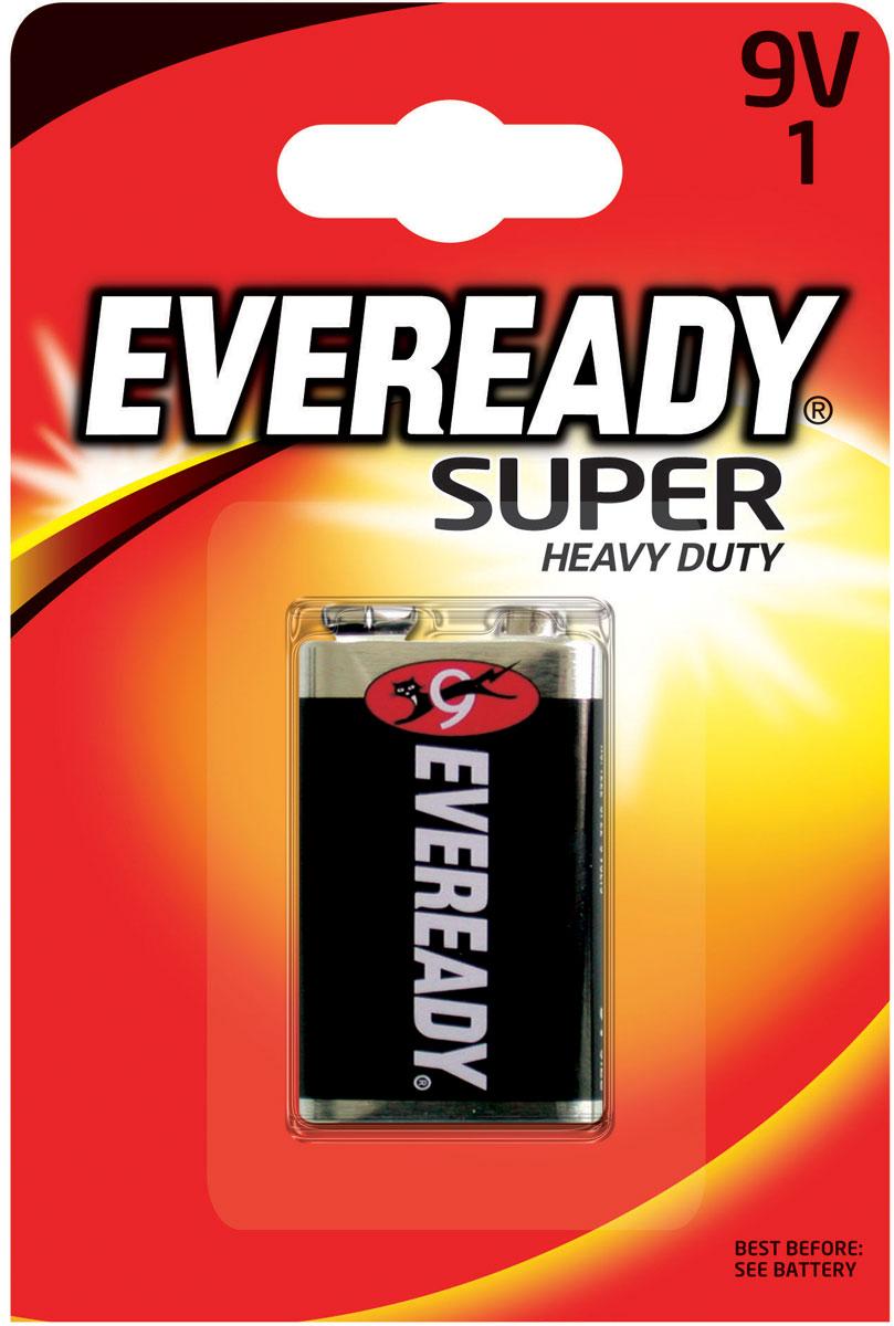 Батарейка Eveready Super, 9V637065/622754Солевая (угольно-цинковая) батарейка Eveready Super состоит из диоксида марганца. Оптимальна для приборов ежедневного пользования. Защищена от протеканий.