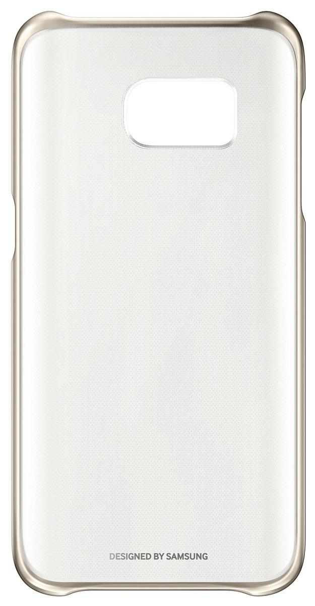 Samsung EF-QG930 Clear Cover чехол для Galaxy S7, GoldEF-QG930CFEGRUSamsung EF-QG930 Clear Cover - прозрачная накладка на заднюю крышку смартфона Samsung Galaxy S7. Тонкий чехол практически не увеличивает размеров смартфона, сохраняя его оригинальный внешний вид и защищая от пыли, грязи и повреждений. Уважаемые клиенты! Обращаем ваше внимание, что данный чехол имеет специальное защитное покрытие под транспортировочной плёнкой в виде тонкой дополнительной плёнки, являющееся неотъемлемой частью крышки и которое нанесено с помощью специального клея. Отделение данного слоя не предусмотрено производителем, и может привести к повреждению аксессуара.