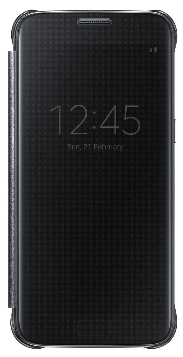 Samsung EF-ZG930 Clear View Cover чехол для Galaxy S7, BlackEF-ZG930CBEGRUТонкий полупрозрачный чехол Samsung EF-ZG930 Clear View Cover подчеркивает стиль и изящество Galaxy S7. Плавные линии чехла настолько гармонично дополняют дизайн телефона, что практически полностью сохраняют первоначальный вид устройства, эффективно защищая его от повреждений. Получите доступ ко всем основным функциям телефона, включая приём входящих вызовов и управление воспроизведением музыки, без необходимости открывать крышку чехла. Благодаря специальному покрытию, устойчивому к появлению отпечатков пальцев, вы можете наслаждаться чистым внешним видом устройства как будто вы только что достали его из коробки.