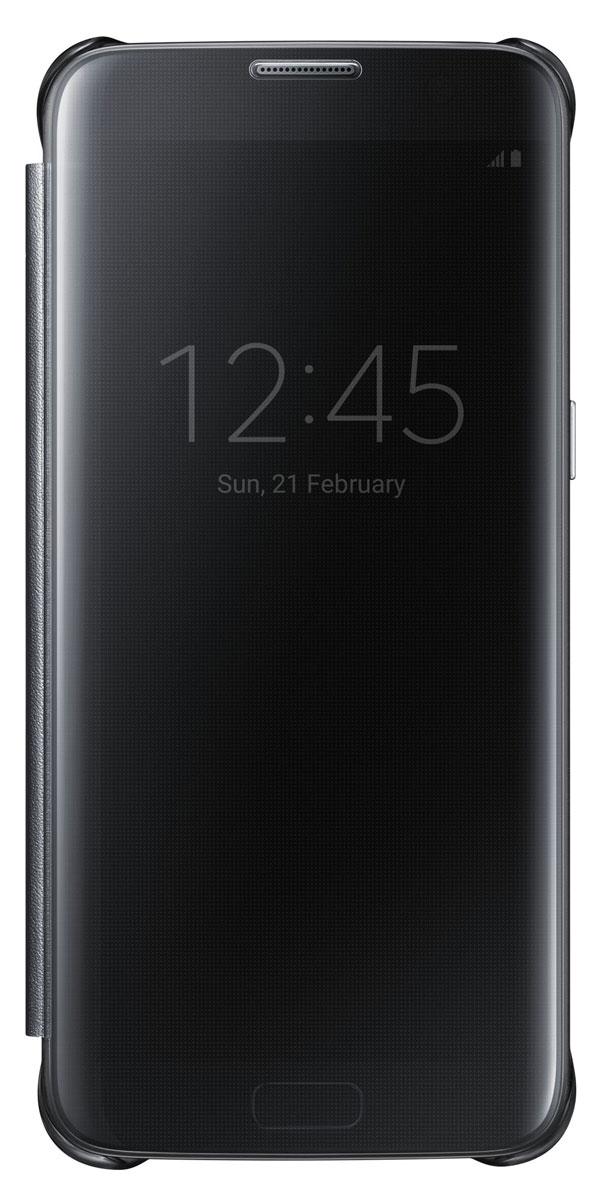Samsung EF-ZG935 Clear View Cover чехол для Galaxy S7 Edge, BlackEF-ZG935CBEGRUТонкий полупрозрачный чехол Samsung EF-ZG935 Clear View Cover подчеркивает стиль и изящество Galaxy S7 Edge. Плавные линии чехла настолько гармонично дополняют дизайн телефона, что практически полностью сохраняют первоначальный вид устройства, эффективно защищая его от повреждений. Получите доступ ко всем основным функциям телефона, включая приём входящих вызовов и управление воспроизведением музыки, без необходимости открывать крышку чехла. Благодаря специальному покрытию, устойчивому к появлению отпечатков пальцев, вы можете наслаждаться чистым внешним видом устройства как будто вы только что достали его из коробки.