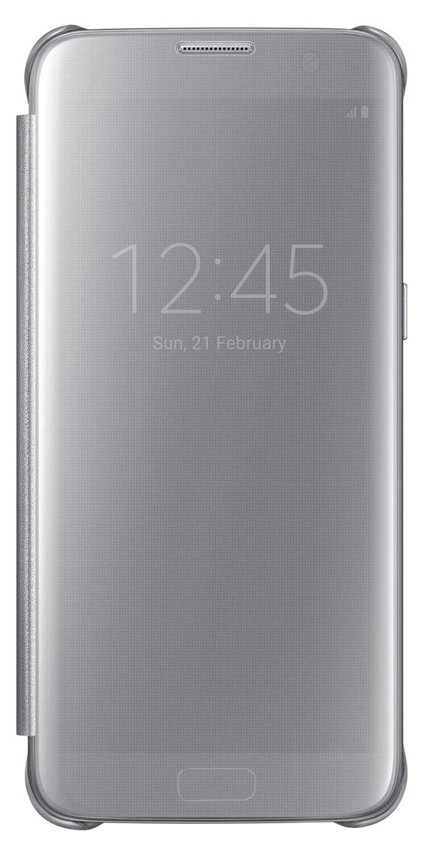 Samsung EF-ZG935 Clear View Cover чехол для Galaxy S7 Edge, SilverEF-ZG935CSEGRUТонкий полупрозрачный чехол Samsung EF-ZG935 Clear View Cover подчеркивает стиль и изящество Galaxy S7 Edge. Плавные линии чехла настолько гармонично дополняют дизайн телефона, что практически полностью сохраняют первоначальный вид устройства, эффективно защищая его от повреждений. Получите доступ ко всем основным функциям телефона, включая приём входящих вызовов и управление воспроизведением музыки, без необходимости открывать крышку чехла. Благодаря специальному покрытию, устойчивому к появлению отпечатков пальцев, вы можете наслаждаться чистым внешним видом устройства как будто вы только что достали его из коробки.