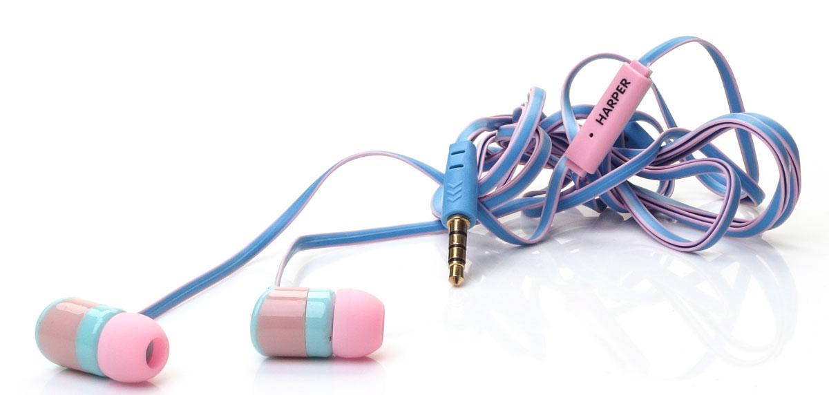 Harper Kids H-34, Blue наушникиH00000575Яркие и стильные наушники Harper Kids H-34 с отличным качеством звучания. Гарнитура имеет встроенный пульт и микрофон для быстрого переключения между музыкой и вызовами. Подключив её к своему смартфону или планшету вы сможете не только наслаждаться любимой музыкой, но и с легкостью ответить на звонок, не доставая гаджет. Гарнитура имеет плоский, эластичный и устойчивый к запутыванию кабель длиной 1,2 метра. В комплекте с наушниками идут мягкие силиконовые накладки 3-х размеров для максимального комфорта.