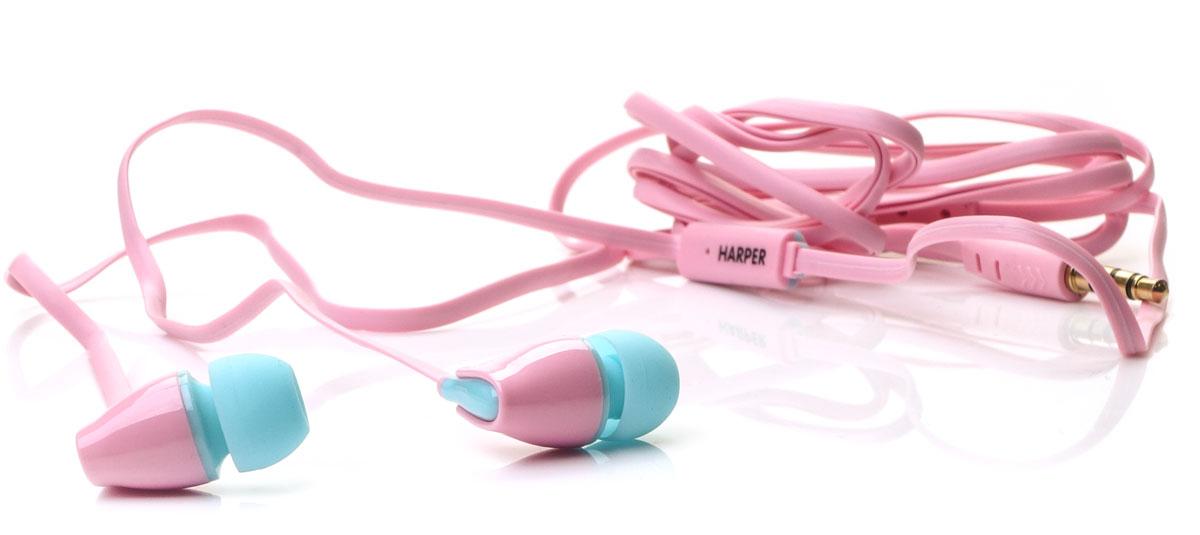 Harper Kids H-52, Pink наушникиH00000569Яркие и стильные наушники Harper Kids H-52 с отличным качеством звучания. Гарнитура имеет встроенный пульт и микрофон для быстрого переключения между музыкой и вызовами. Подключив её к своему смартфону или планшету вы сможете не только наслаждаться любимой музыкой, но и с легкостью ответить на звонок, не доставая гаджет. Гарнитура имеет плоский, эластичный и устойчивый к запутыванию кабель длиной 1,2 метра. В комплекте с наушниками идут мягкие силиконовые накладки 3-х размеров для максимального комфорта.