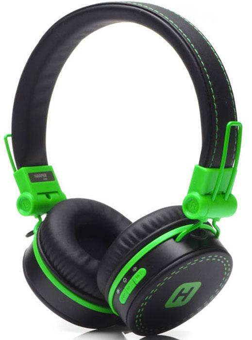 Harper Kids HB-202, Black Green наушникиH00001017Яркие и стильные Bluetooth-наушники Harper Kids HB-202 с отличным качеством звучания. Гарнитура имеет встроенный пульт и микрофон для быстрого переключения между музыкой и вызовами. Подключив её к своему смартфону или планшету вы сможете не только наслаждаться любимой музыкой, но и с легкостью ответить на звонок, не доставая гаджет. Гарнитуру также можно подключить с помощью кабеля 3,5 мм входящего в комплект.