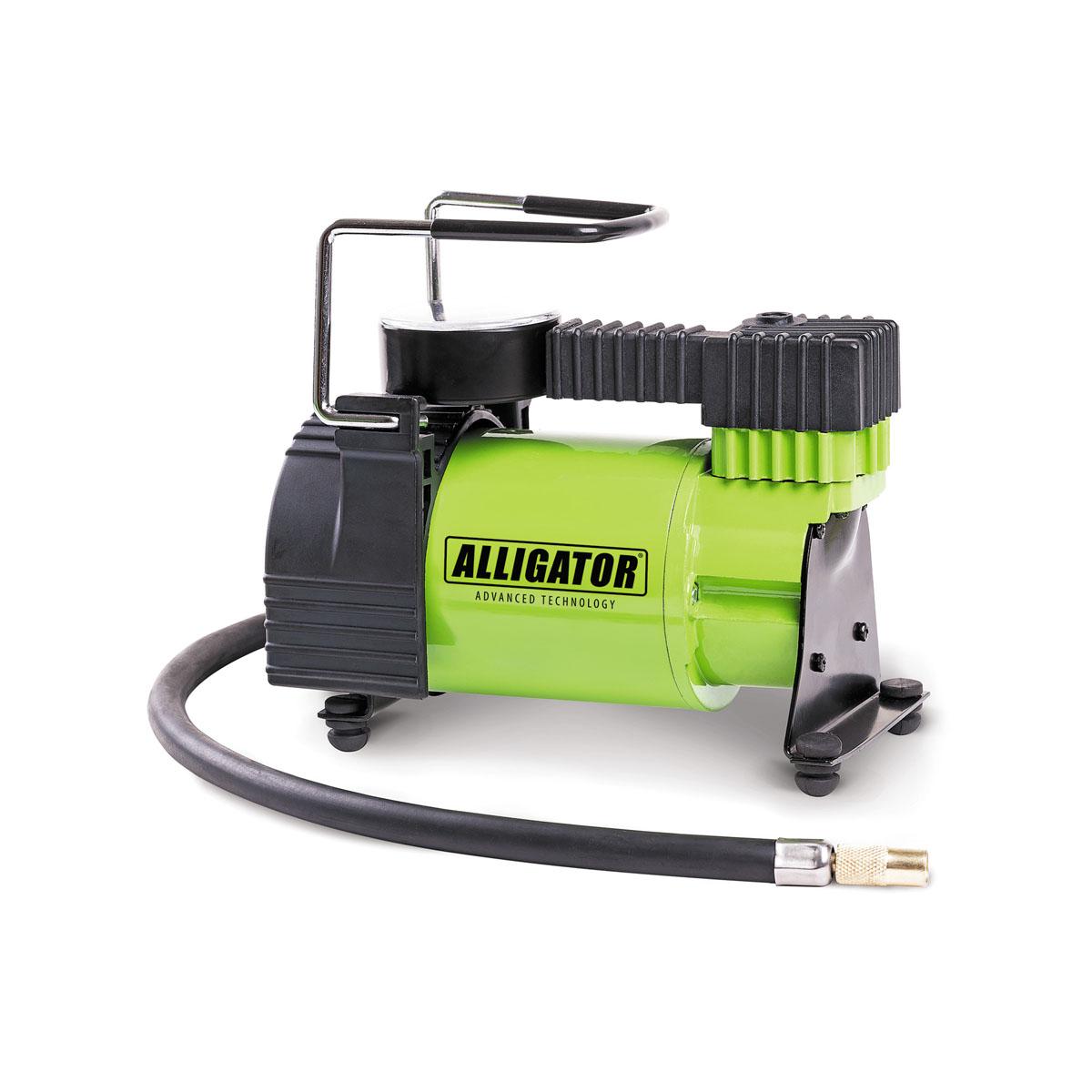 Компрессор автомобильный Автопрофи Аллигатор, 12В, 120 Вт. AL-350AL-350Автомобильный компрессор Автопрофи Аллигатор выполнен из высококачественного металла. В комплекте переходники для накачки надувных изделий. Питание осуществляется от бортовой сети 12В. Компрессор может непрерывно работать в течение 20 минут. В комплекте сумка для удобной переноски и хранения. Напряжение: 12В. Мощность: 120 Вт. Производительность: 30 л/мин. Максимальное давление 10 АТМ. Длина кабеля питания: 3 м. Длина шланга: 70 см. Время непрерывной работы: 20 минут. Диаметр поршня: 30 мм. Рабочая температура: от -20°С до +50°С. Максимальный ток: 14 А.