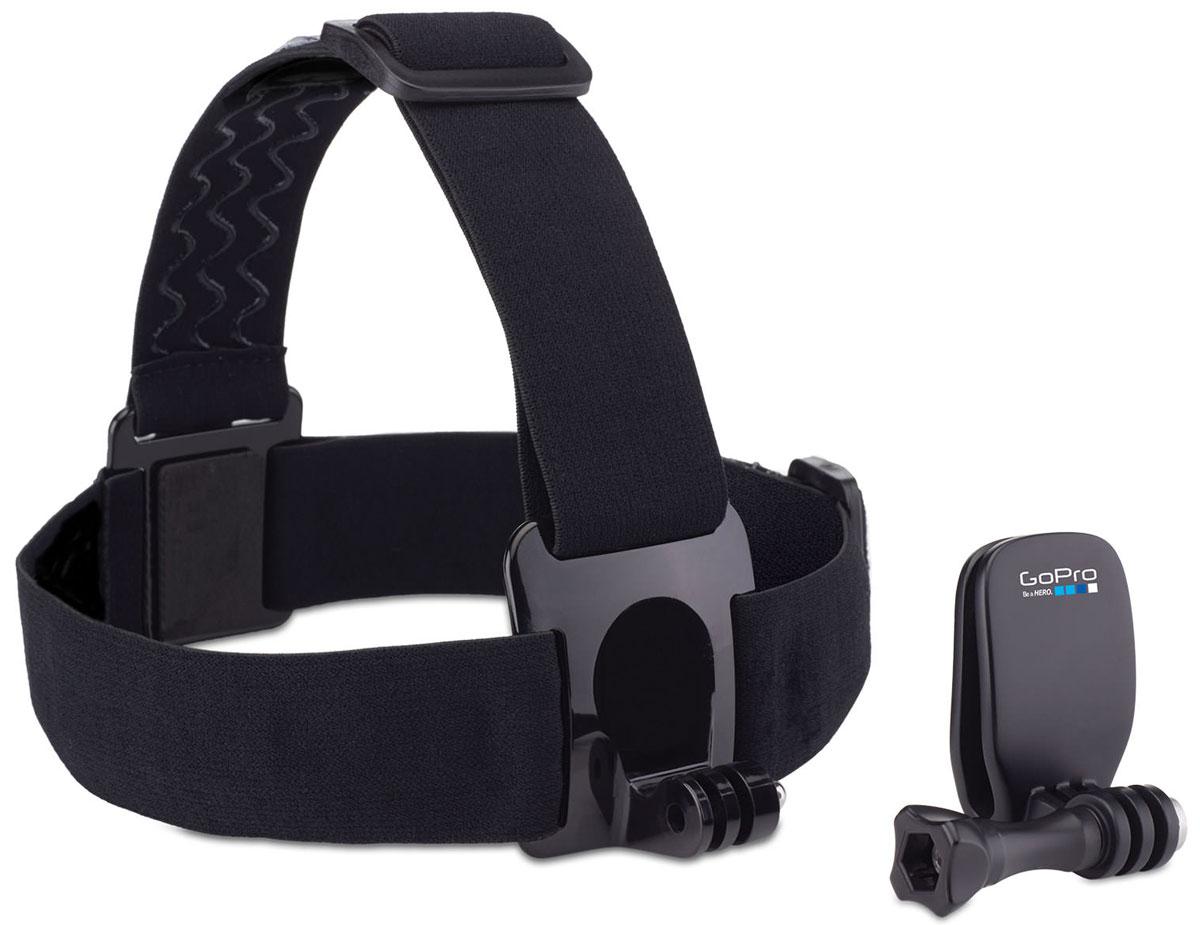 GoPro Head Strap + QuickClip крепление на голову + клипсаACHOM-001Крепите камеру GoPro на голову с помощью HeadStrap, или используйте быстросъемную клипсу QuickClip для крепления камеры на бейсболку или другие объекты толщиной от 3 мм до 10 мм (ремень, шлейка рюкзака). Новая быстросъёмная клипса идеально подходит для более компактного крепления камеры. Крепление на голову также можно использовать для закрепления камеры на каске или шлеме, если другой способ невозможен (например если каска покрыта тканью и к ней нельзя приклеить специальную площадку). Аксессуары изготовлены из очень качественных материалов. На обратной стороне крепления нанесён силикон (чтобы крепление не соскальзывало).