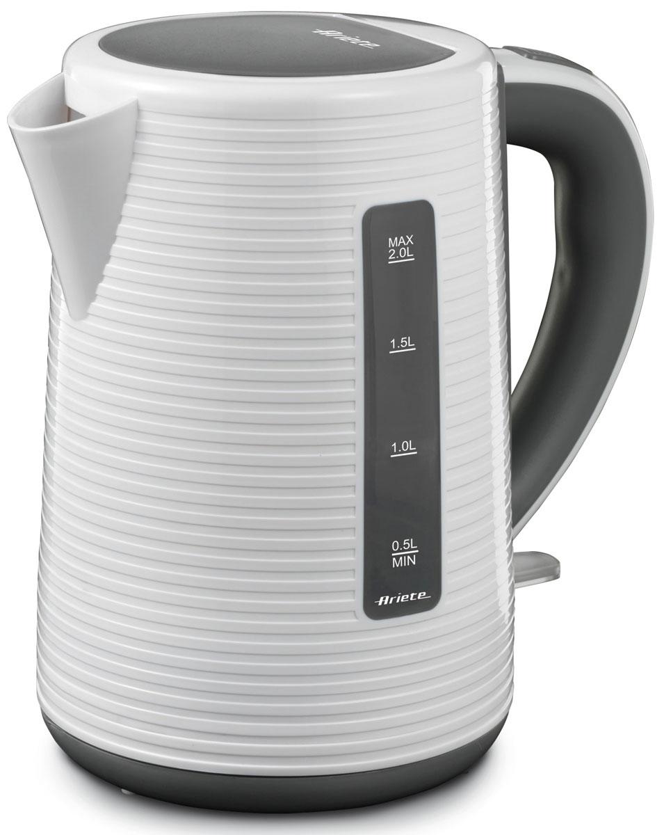 Ariete 2898 чайник электрический2898Электрочайник Ariete 2898 имеет большой объем, благодаря чему вы без труда приготовите любимые напитки для всей семьи или целой компании. Высокая мощность прибора позволит воде быстро нагреваться. Нагревательный элемент имеет закрытый тип, что обеспечивает должную безопасность во время работы прибора. Кроме того он выполнен из нержавеющей стали, что значительно продлевает срок его службы. Для безопасной работы также предусмотрена блокировка крышки.