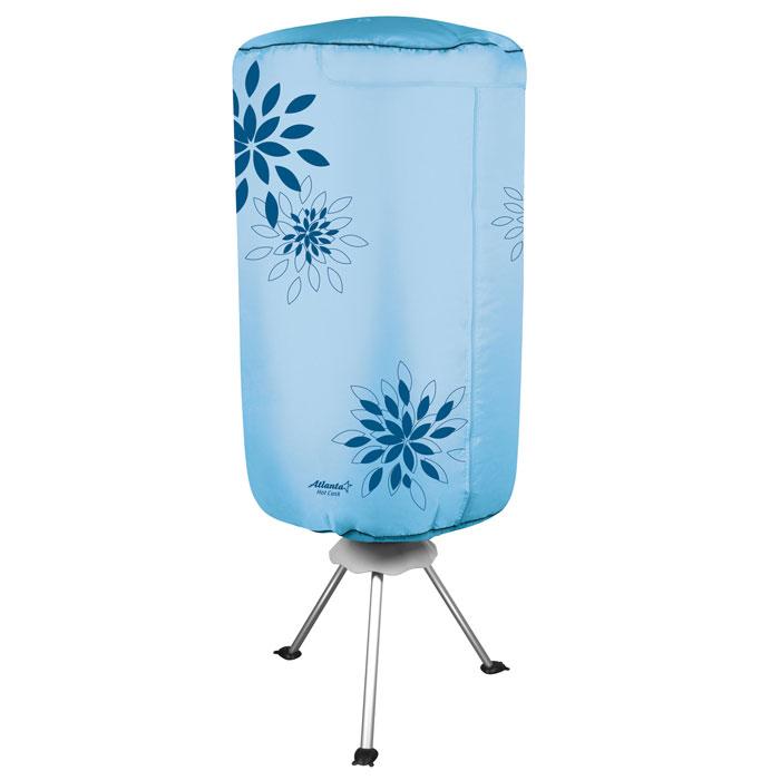 Atlanta ATH-5703, Blue сушилка для одеждыATH-5703_blueЭлектросушилка Atlanta ATH-5703 способна высушить мокрое белье всего лишь за два часа, при этом прибор займет совсем немного места. Таймер, рассчитанный на 3 часа, самостоятельно отключит устройство, если вы решили высушить одежду в свое отсутствие. Специальный вентилятор с подачей горячего воздуха, встроенный в сушилку, станет настоящей находкой для тех, кто не любит долго ждать. Легкая разборная конструкция Таймер на 180 минут Колесики с противооткатным механизмом Мощность 1000 Вт
