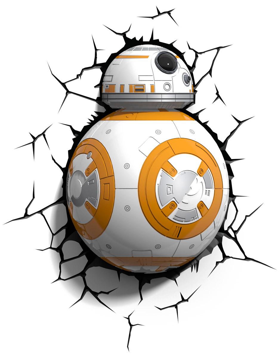 Star Wars Пробивной 3D светильник Дроид BB-850021Пробивной 3D светильник Star Wars Дроид BB-8 обязательно понравится вашему ребенку. Особенности: Безопасный: без проводов, работает от батареек (3хАА, не входят в комплект); Не нагревается: всегда можно дотронуться до изделия; Реалистичный: 3D наклейка-имитация трещины в комплекте; Фантастический: выглядит превосходно в любое время суток; Удобный: простая установка (автоматическое выключение через полчаса непрерывной работы). Товар предназначен для детей старше 3 лет. ВНИМАНИЕ! Содержит мелкие детали, использовать под непосредственным наблюдением взрослых.