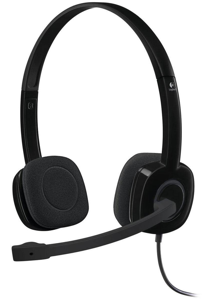 Logitech H151 Stereo, Black гарнитура