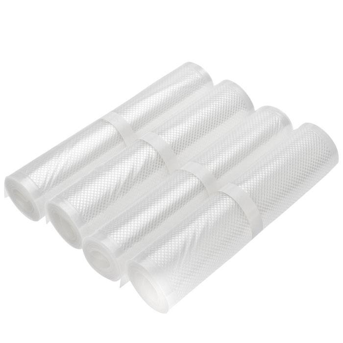 STATUS VB 20х300 рулоны для вакуумного упаковщика, 4 штVB 20*300-4Специальные прочные рулоны STATUS VB 20х300 для вакуумного упаковщика с ребристой структурой. Высокая прочность допускает замораживание, использование в СВЧ печи, готовку по технологии Sous-Vide. Длина рулона: 3 м